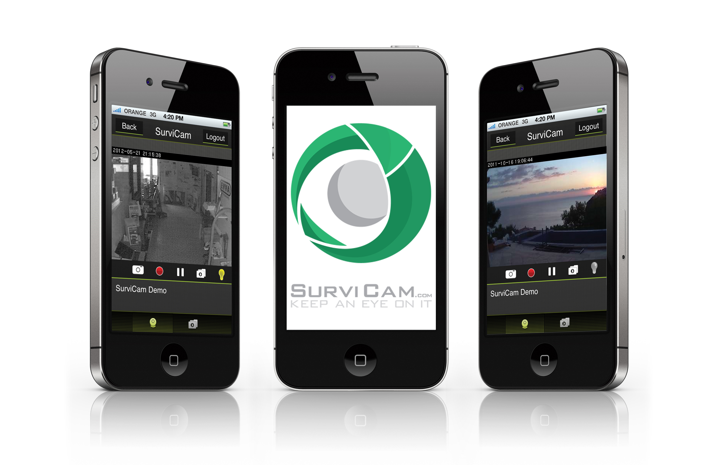 SurviCam iPhone App Screenshots